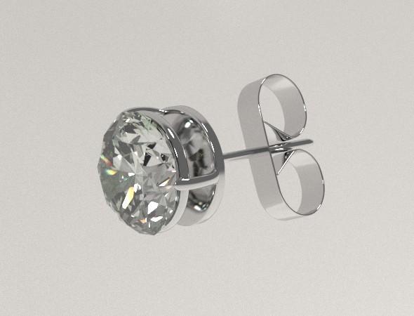 Silver Ear Stud - 3DOcean Item for Sale