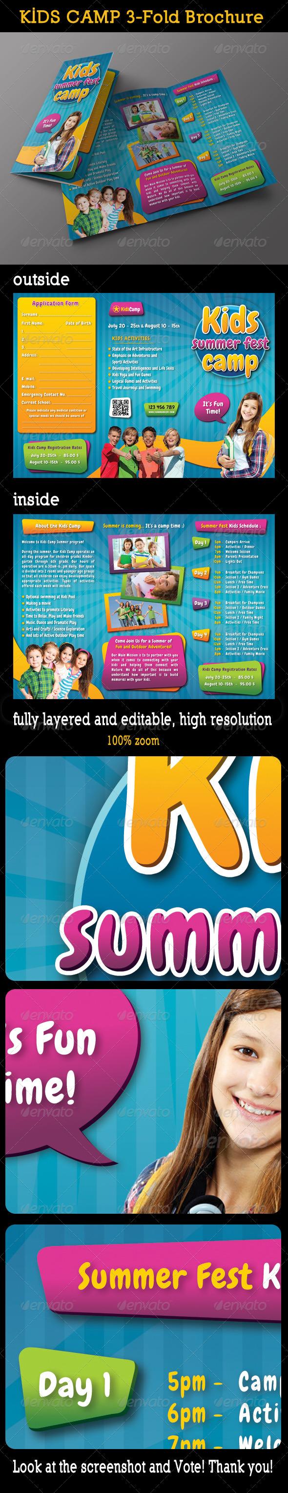 Kids Summer Camp 3-Fold Brochure 01