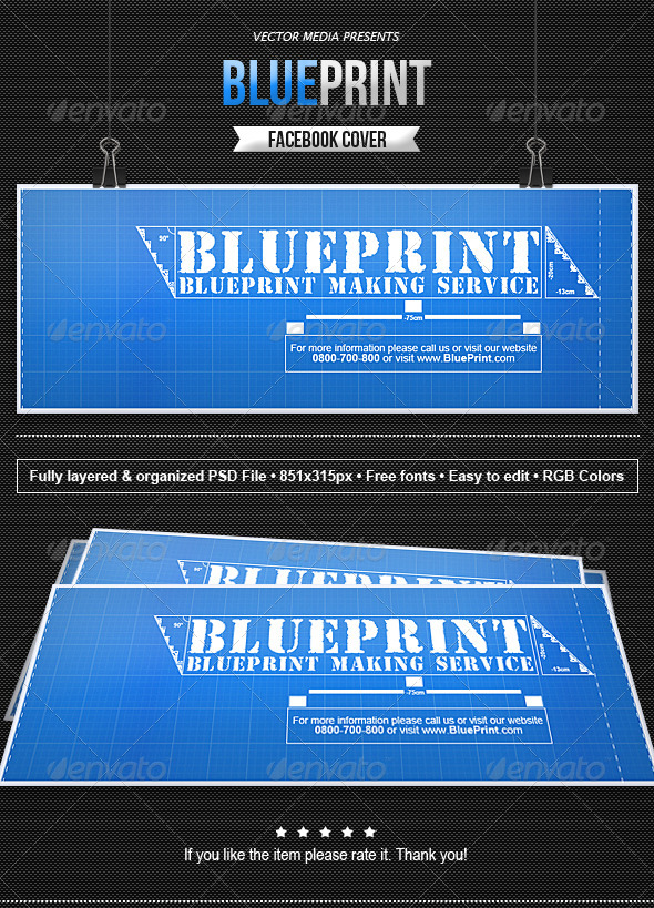 Blueprint facebook cover by vectormedia graphicriver blueprint facebook cover facebook timeline covers social media malvernweather Images