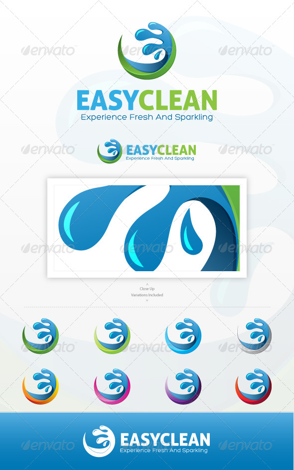 Easy Clean Logo - Nature Logo Templates