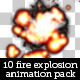 10 Fire and Smoke Explosion Animation - GraphicRiver Item for Sale