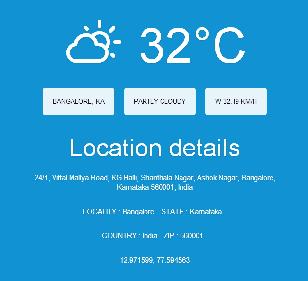 Html5 Geolocation With Address Decoding By Smarttechie Codecanyonrhcodecanyon: Geo Location Bangalore At Gmaili.net