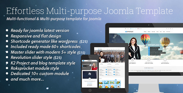 Effortless – Multi-purpose Joomla Template