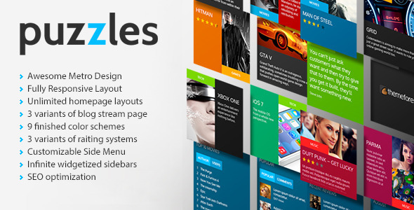 Puzzles | Magazine/Review HTML Theme