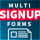 Flat Multi Step Signup Form - GraphicRiver Item for Sale