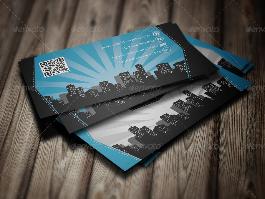 Travel Agency Business Card by eldis_design | GraphicRiver