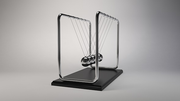 Newtons cradle Pendulum - 3DOcean Item for Sale