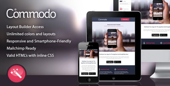 Commodo - Flat & Clean Responsive Email Template - Newsletters Email Templates