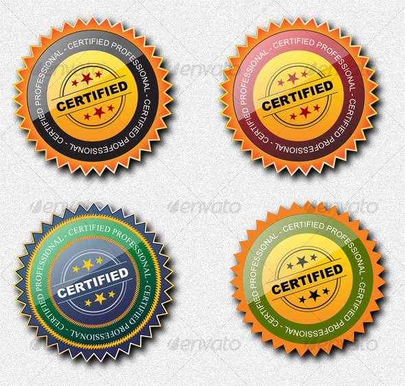 Certified Professional Seal - Decorative Symbols Decorative
