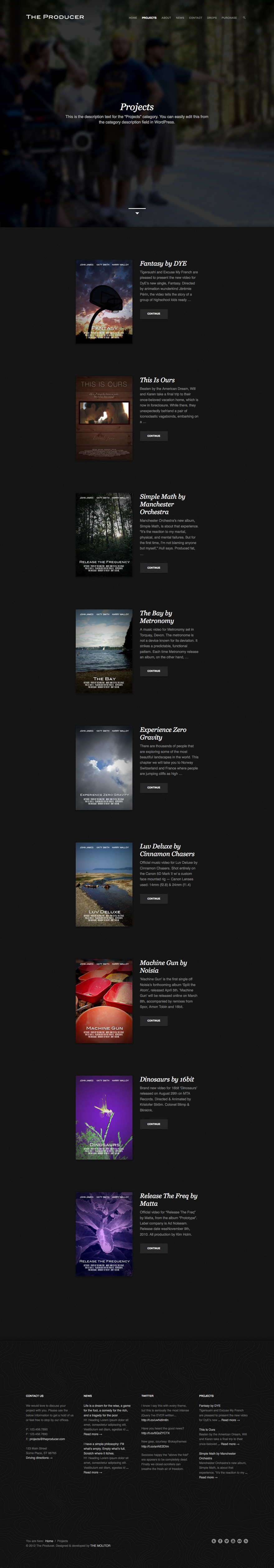 The Producer: Responsive Film Studio WP Theme by theMOLITOR ...