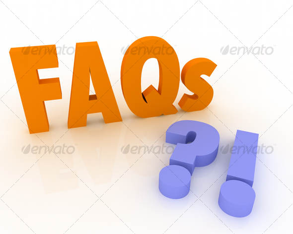 3D FAQs with Question Mark and Exclamation mark - Miscellaneous Graphics
