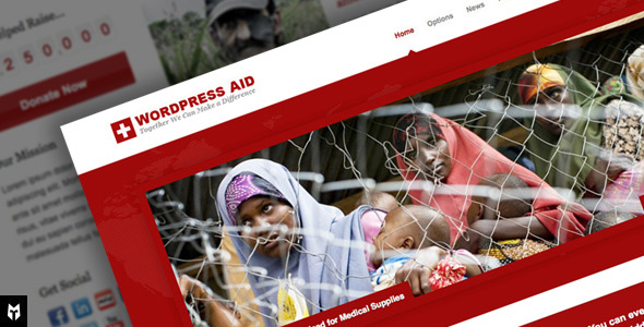 Free Download Aid: Responsive Charity + Blog WP Theme Nulled Latest Version