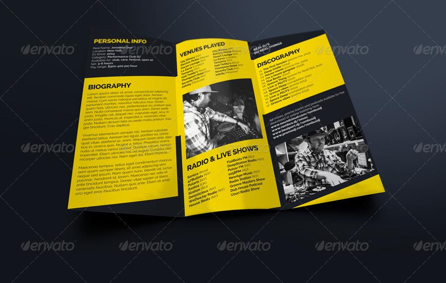 Rombus Dj Press Kit Tri Fold Brochure By Vinyljunkie