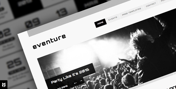 Free Download Eventure: Responsive Events WP Theme Nulled Latest Version