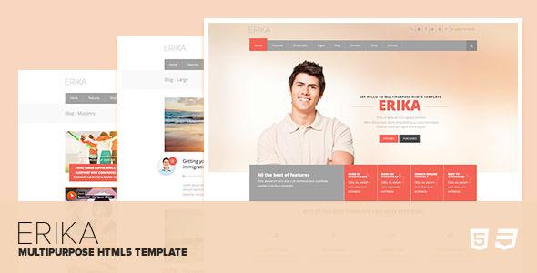 Erika – Responsive Multipurpose HTML5 Template
