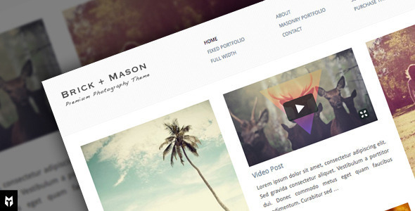 Free Download Brick + Mason: Premium Photography and Blog Theme Nulled Latest Version