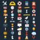 Flat Icons Design Set - GraphicRiver Item for Sale