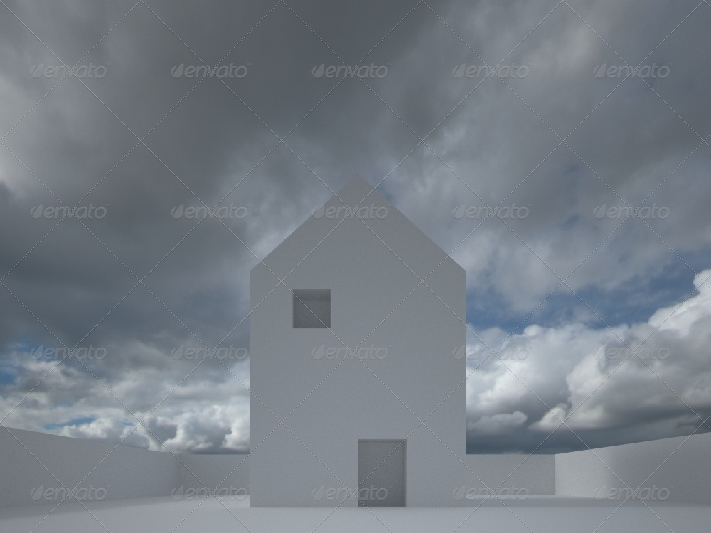 HDRI IBL 1532 Overcast Sun Sky