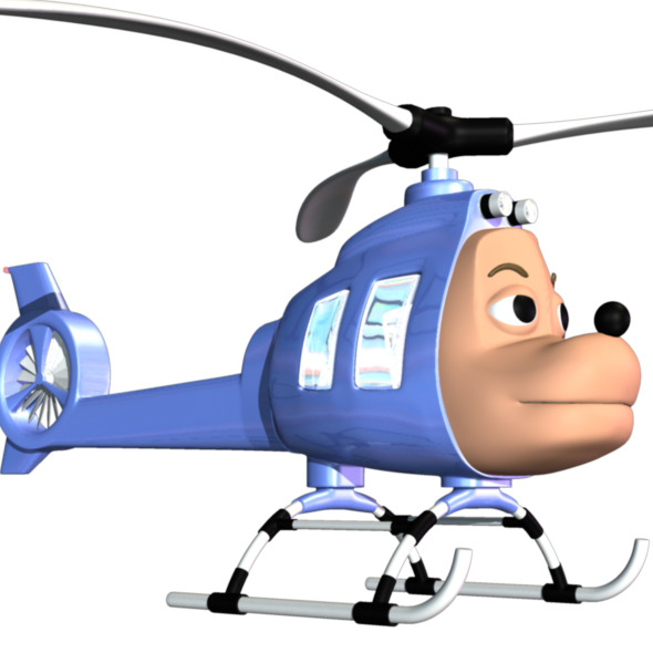 Cartoon Helicopter - 3DOcean Item for Sale