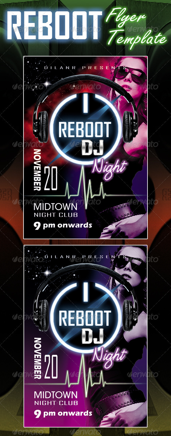 Reboot Flyer Template - Clubs & Parties Events