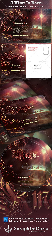 A King Is Born Christmas Church Flyer - Print Templates