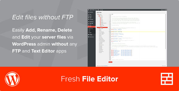 Fresh File Editor - WordPress Plugin - CodeCanyon Item for Sale