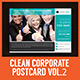 Multipurpose Clean Corporate Postcard Vol.2