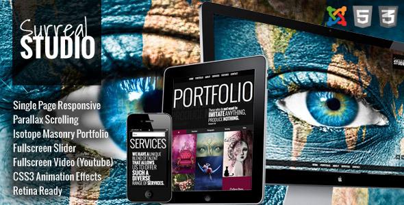 Surreal - One Page Parallax Joomla Template - Creative Joomla