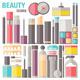 Makeup Flat Illustration - GraphicRiver Item for Sale
