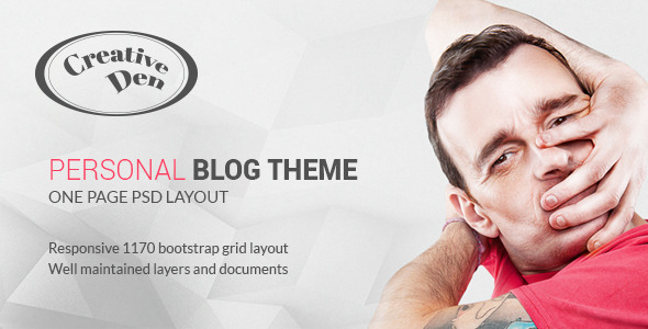 Bloggers Den – One Page Personal Blog Template