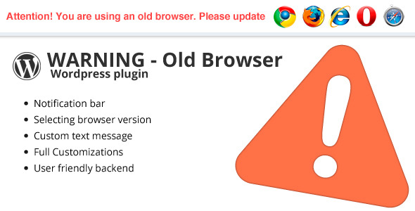 Warning Old Browser – WordPress plugin