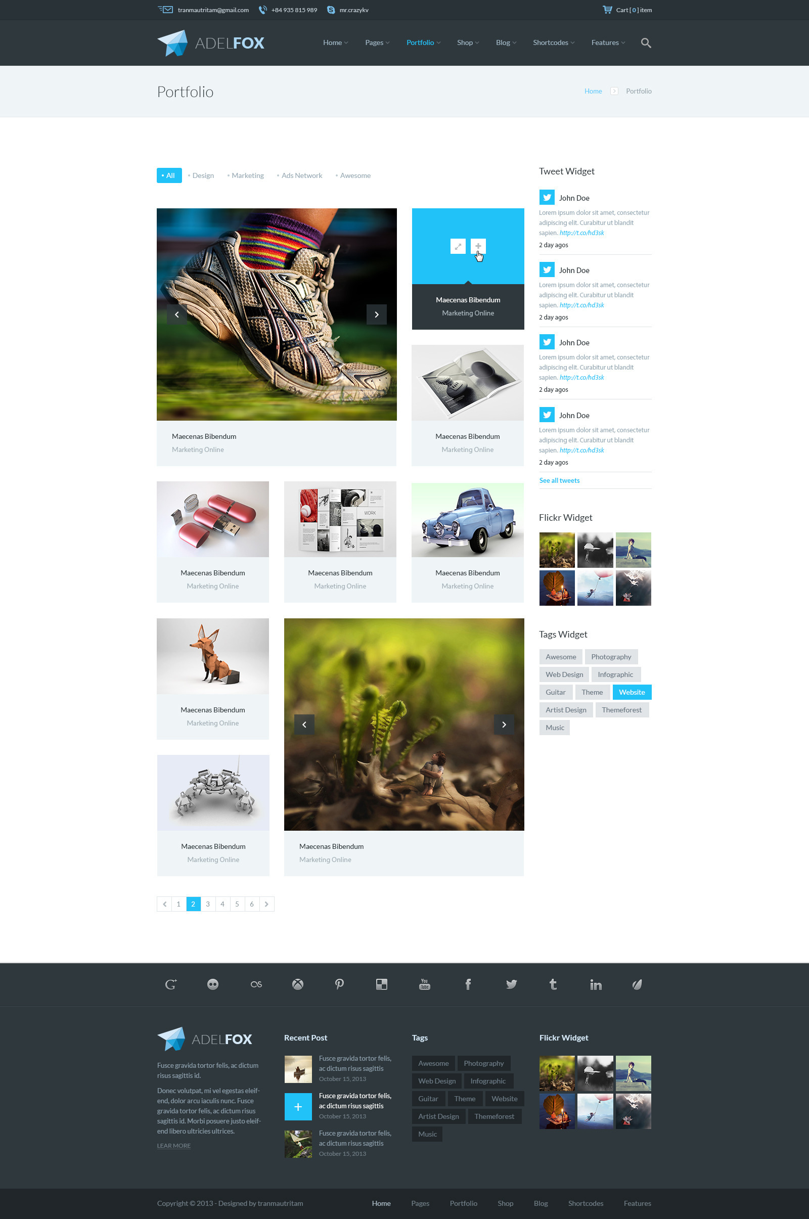 AdelFox | Multi-Purpose PSD Template by tranmautritam | ThemeForest