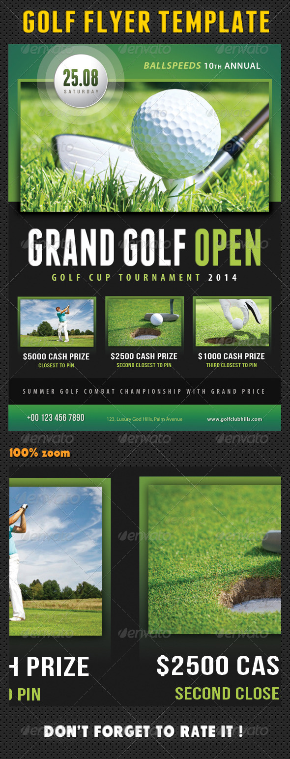 Golf Flyer Template 02 - Print Templates
