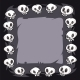 Cartoon Skulls Square Frame - GraphicRiver Item for Sale