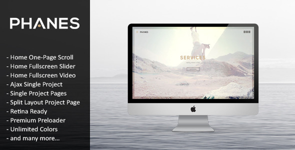 Phanes – Responsive Unique HTML5 Template