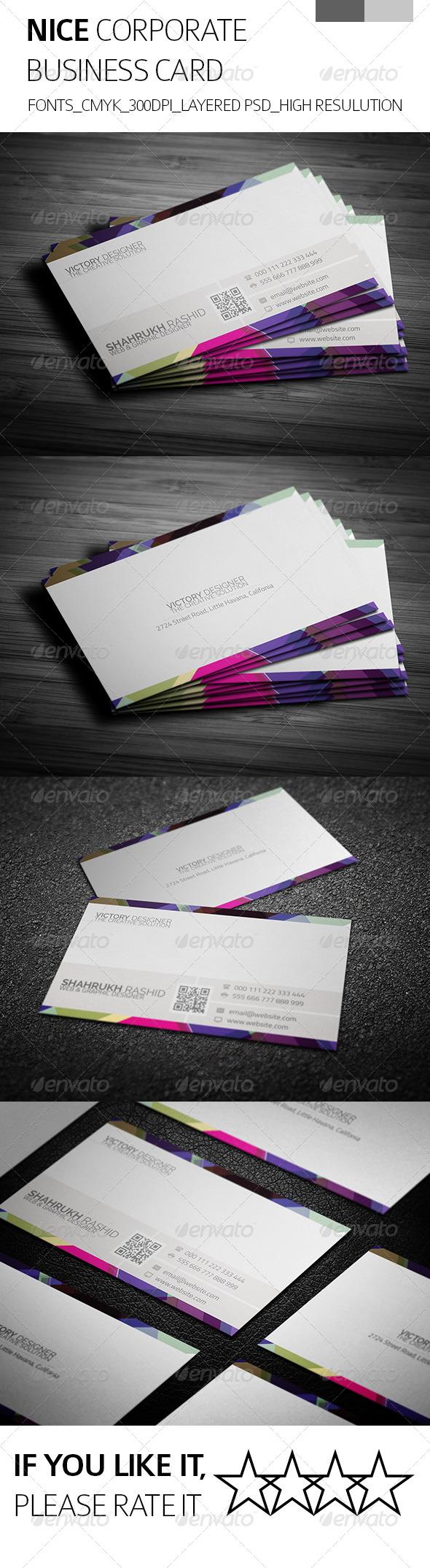 Nice & Corporate Business Card - Corporate Business Cards
