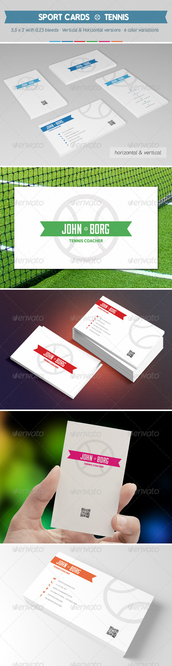 Sport Business Cards - Tennis by Sargatal2 | GraphicRiver
