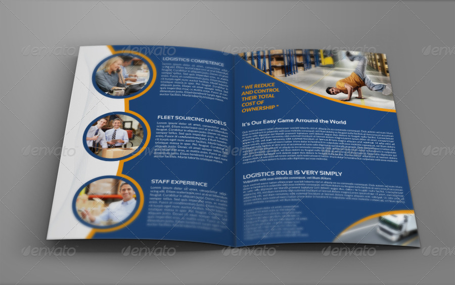 Logistics Services Bi Fold Brochure Vol 4 By Owpictures