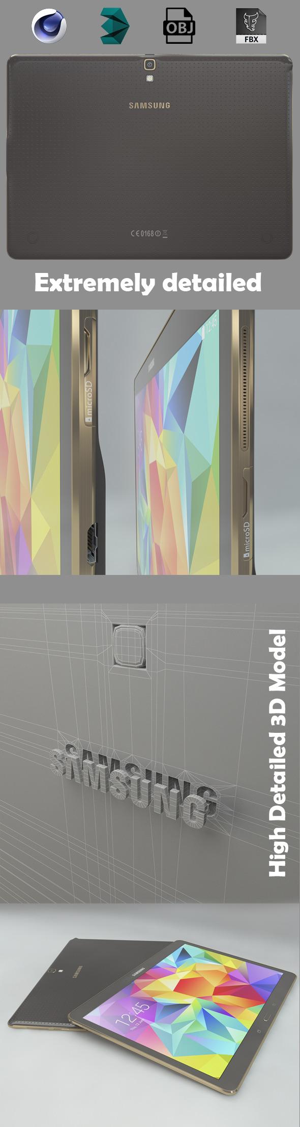 Samsung galaxy tab s 10.5 - 3DOcean Item for Sale