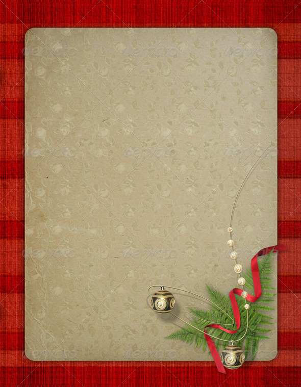 The old grunge postcard. Congratulation to Christmas or New yea