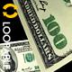 100 Dollars Banknotes Loop - VideoHive Item for Sale
