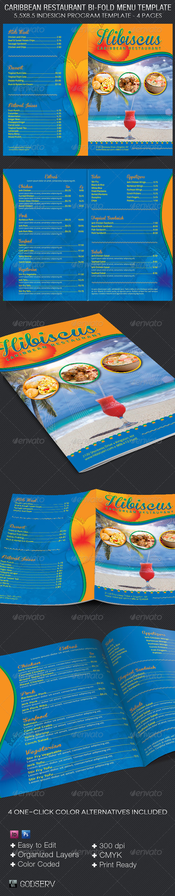 Caribbean Restaurant Menu Template