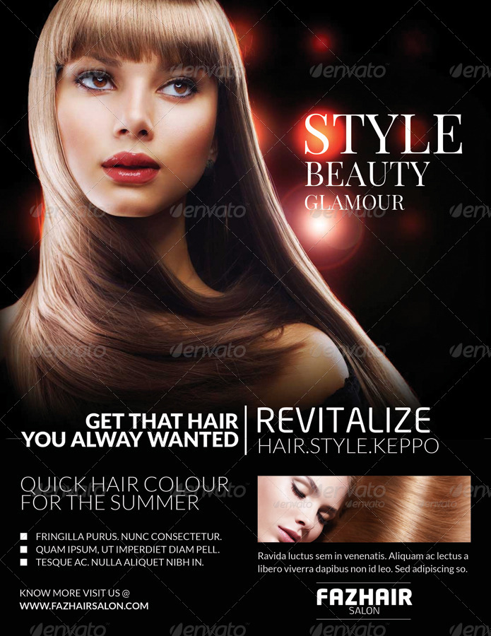 Fazhair Fashion Hair Care Salon Flyers By Totopc Graphicriver