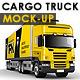 Branded Trailer (Truck) Mock-Up - GraphicRiver Item for Sale