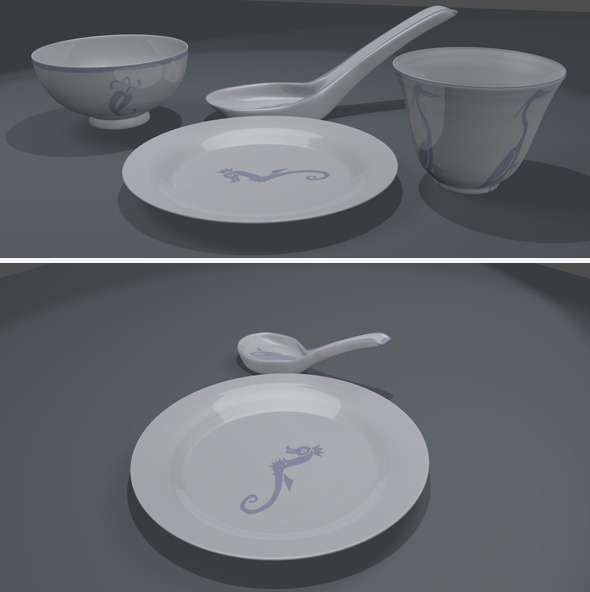 Dinnerware Sets - 3DOcean Item for Sale