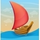 Sail Boat on Water - GraphicRiver Item for Sale