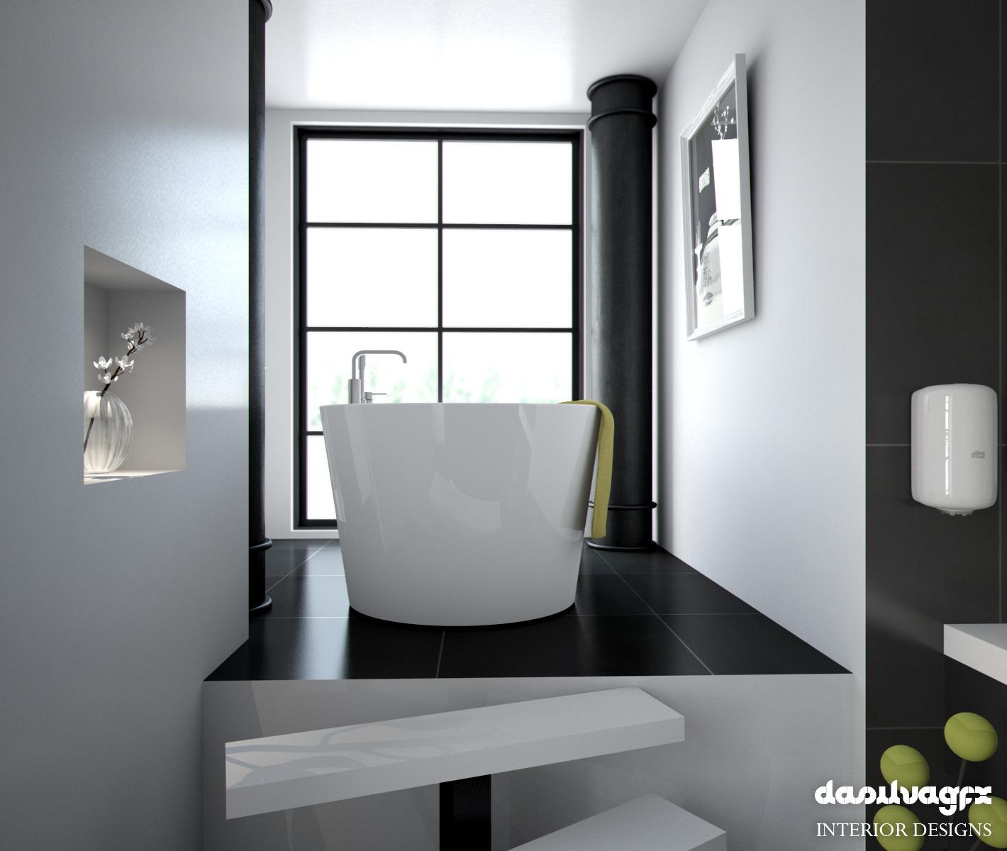 Scandinavian Bathroom scene HDRI C4D Vray