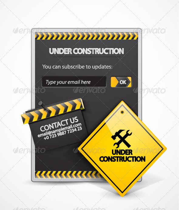 Under Construction Item - Web Elements Vectors