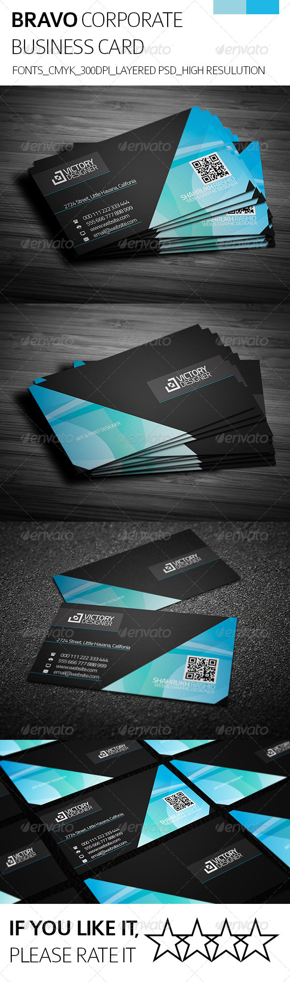 Bravo & Corporate Business Card - Corporate Business Cards