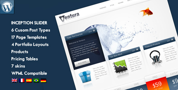 Free Download Ventura - Wordpress Corporate / Business Theme Nulled Latest Version